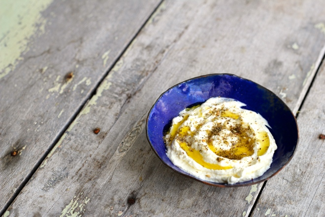 labneh with olive oil and za'atar