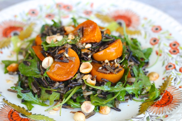 persimmon-wild-rice-salad