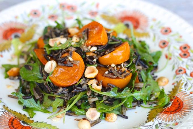 persimmon-wild-rice-salad