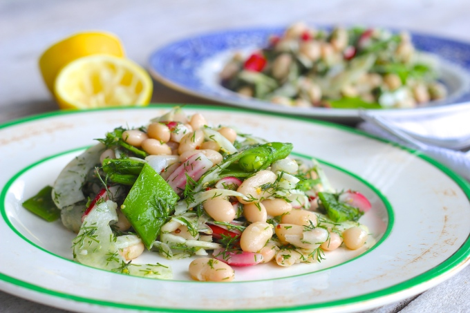 White bean, fennel & dill salad