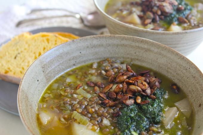 lemon-lentil-soup-two-bowls