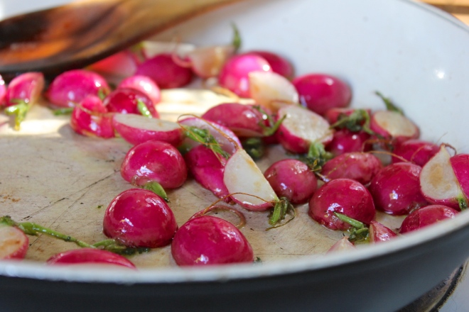 pan-roasting-radishes