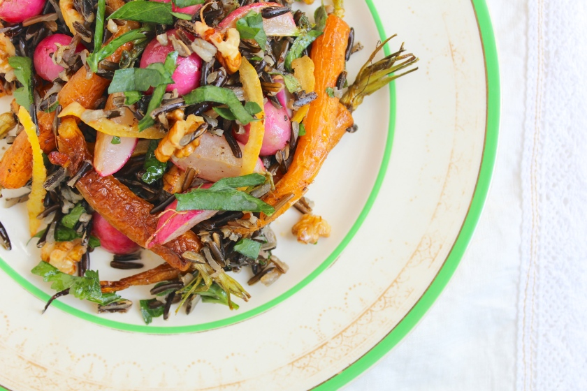 roasted-carrot-radish-preserved-lemon-wild-rice-salad