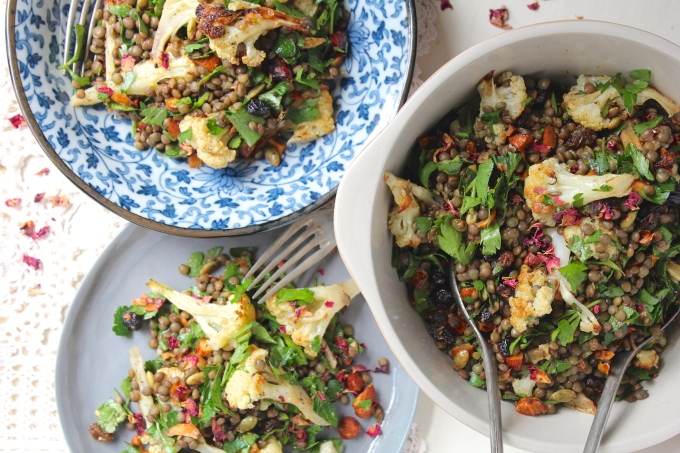 roasted-cauliflower-lentil-salad