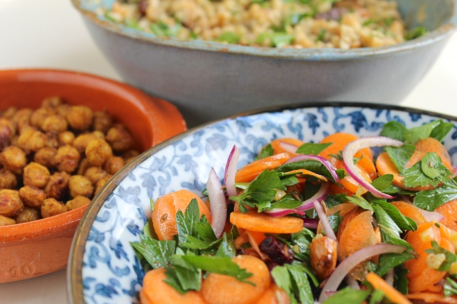 chickpeas-freekeh-carrot-salad