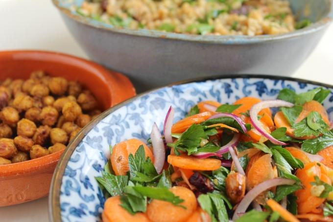 chickpeas-freekeh-carrot-salad