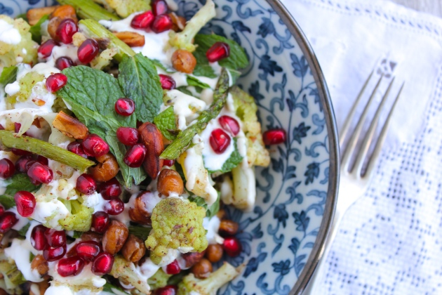 Romanesco Cauliflower, Chickpea & Mint Salad | highgate hill kitchen