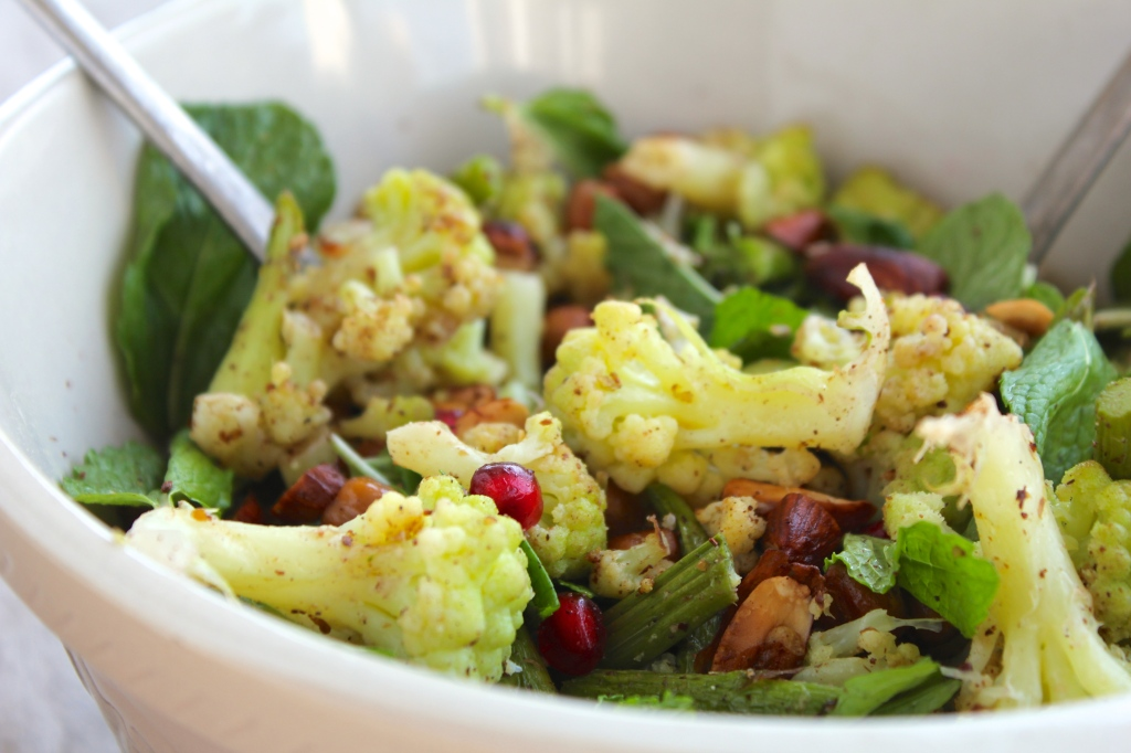 cauliflower-asparagus-mint-salad-bowl