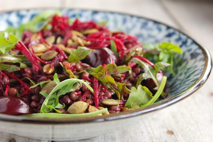 lentil-beetroot-cherry-salad-bowl