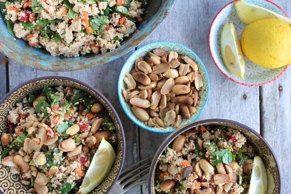 tofu-salad-table