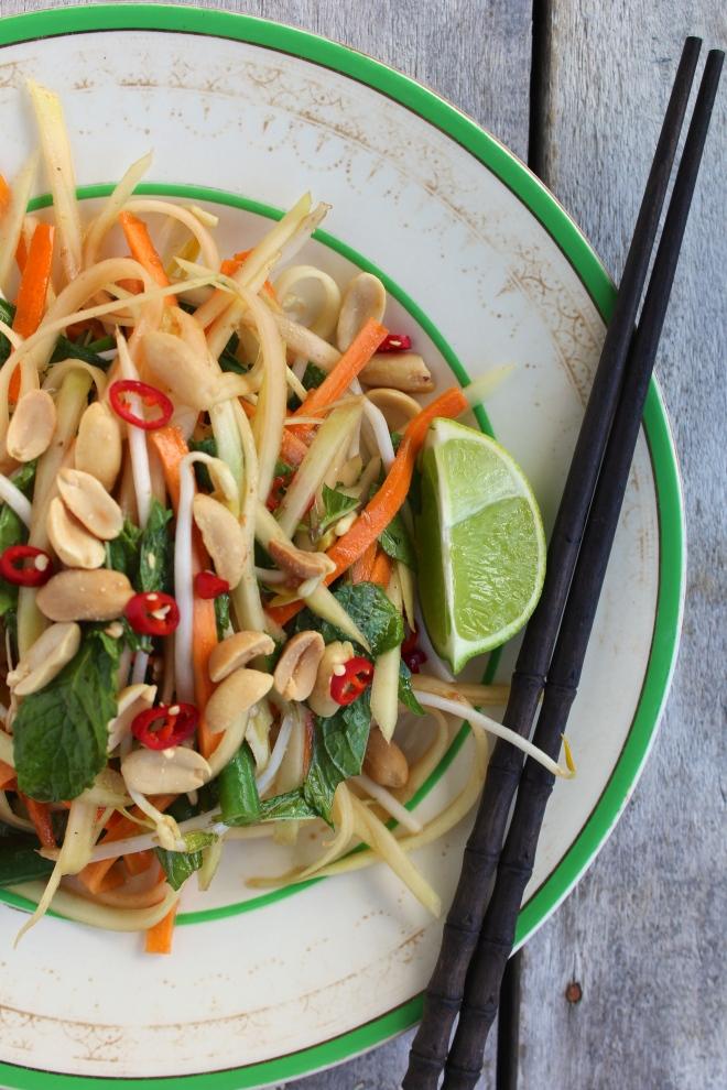 green-papaya-salad-chopsticks