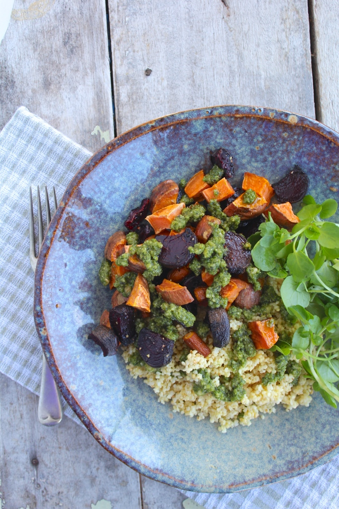 roast-veges-millet-tyme-lime-pesto-birdseye