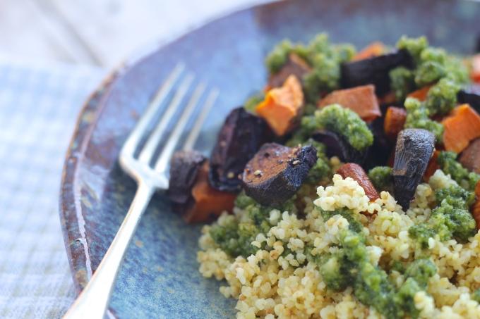 roast-veges-millet-tyme-lime-pesto-closeup