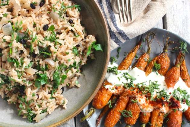 simple-spiced-pilaf-roasted-carrots