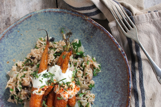 spiced-pilaf-roasted-carrots-plate