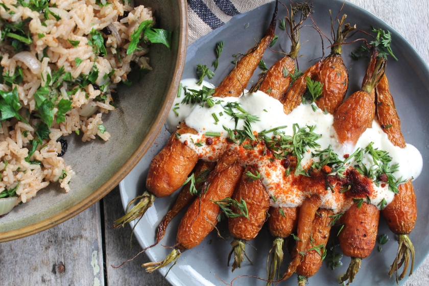spiced-pilaf-roasted-carrots