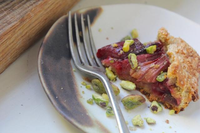 rhubarb-pistachio-galette-slice