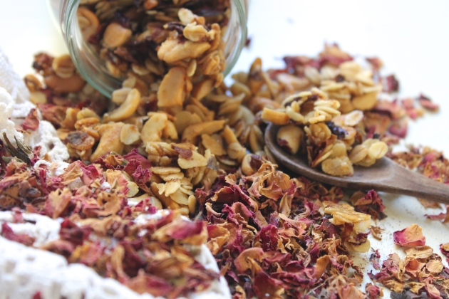 Rose Petal Granola Recipe — Dishmaps