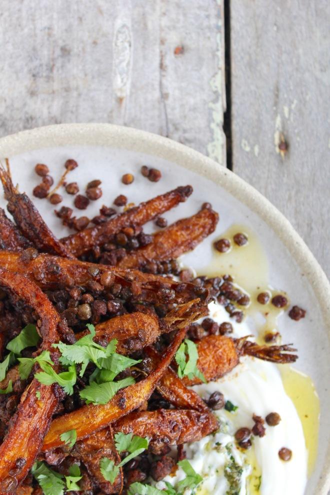 roasted-carrots-crispy-lentils-spicy-yoghurt-vertical