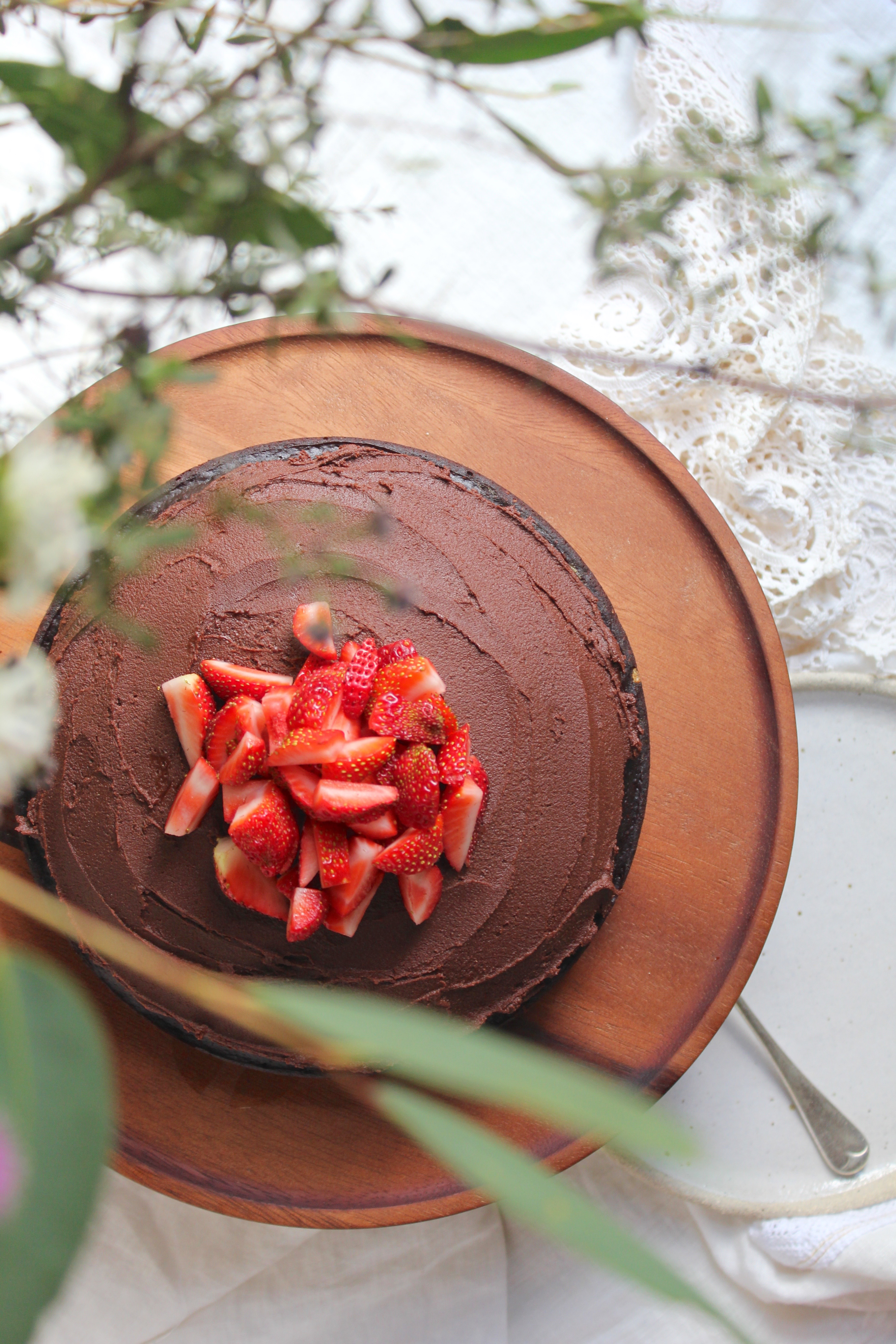 chocolate cake with cocoa tahini frosting. Black Bedroom Furniture Sets. Home Design Ideas