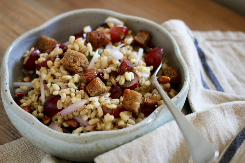 grape-barley-salad-fork