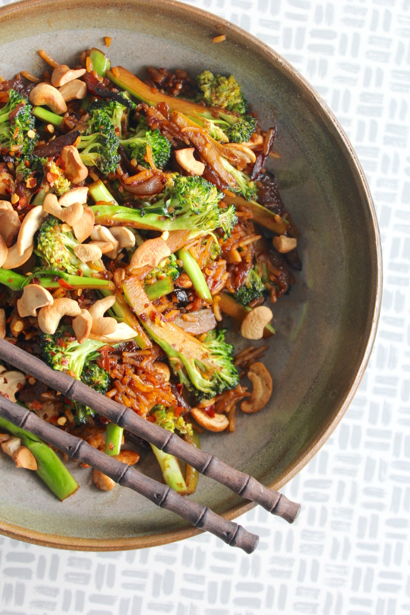 Broccoli, Onion & Cashew Fried Rice