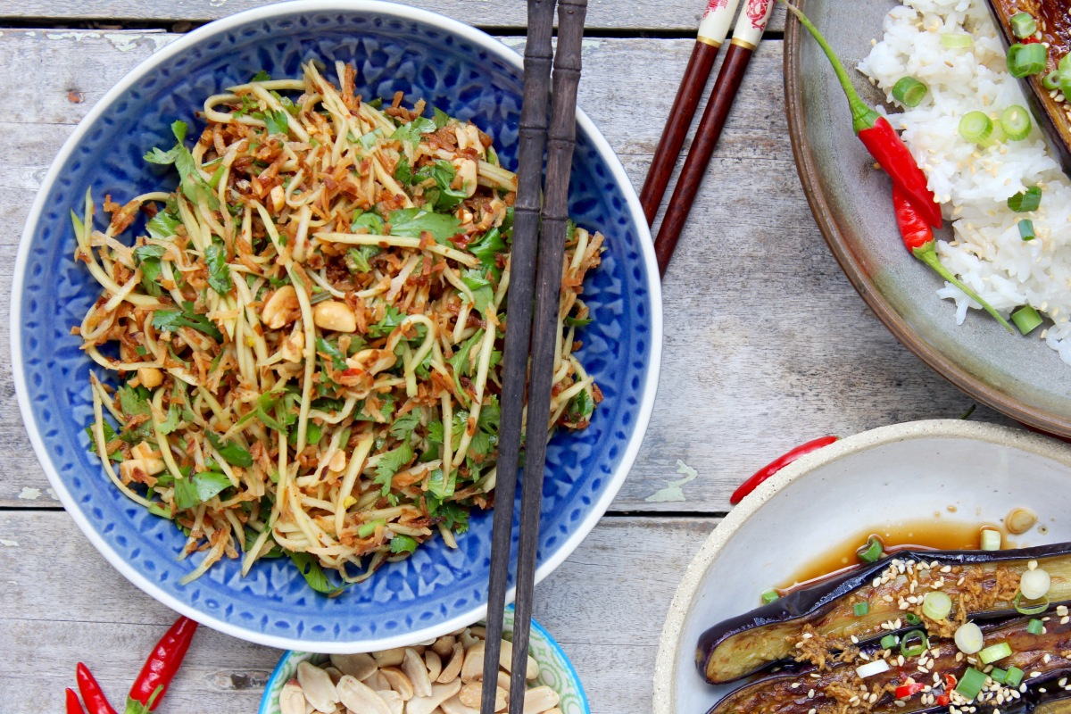 Toasted Coconut & Green Mango Salad