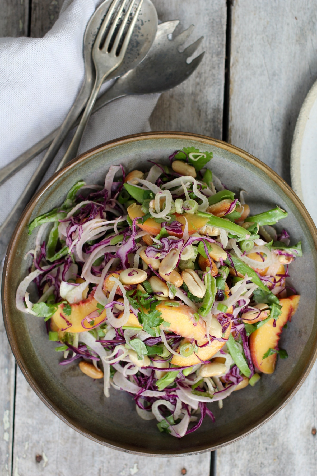 Peach & Fennel Salad with Ginger-Lime Dressing