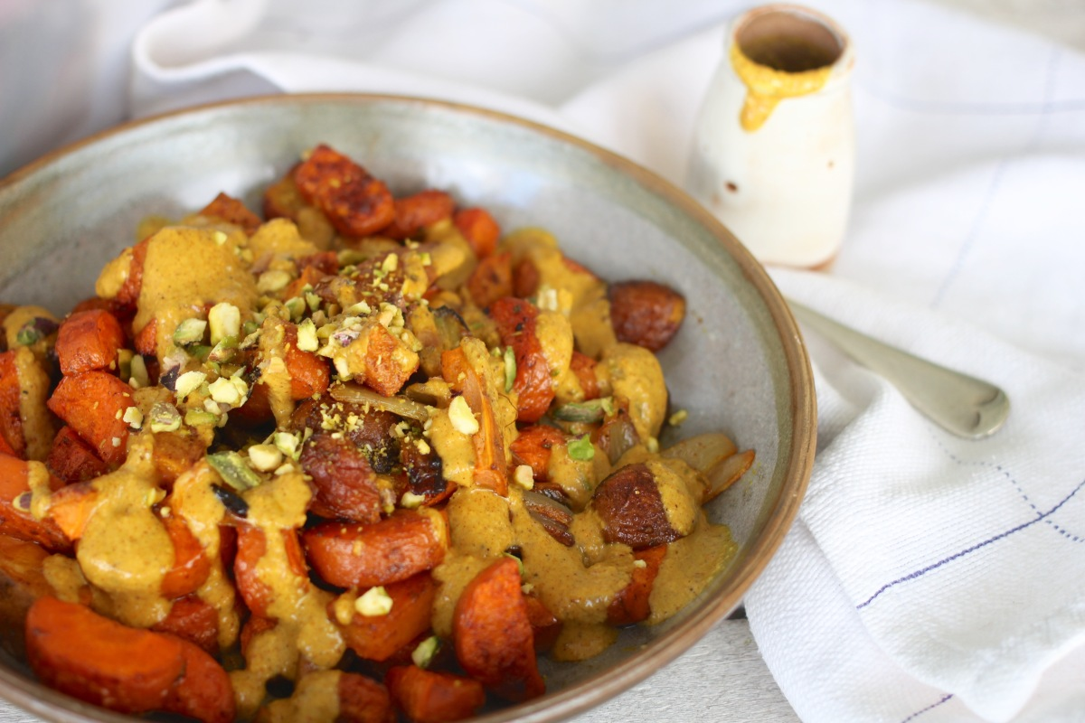 Roasted Veges with Coconut Turmeric Sauce