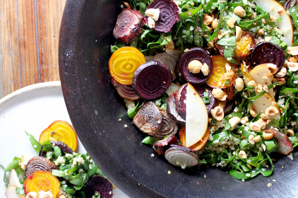 Beetroot, Quinoa & Hazelnut Salad