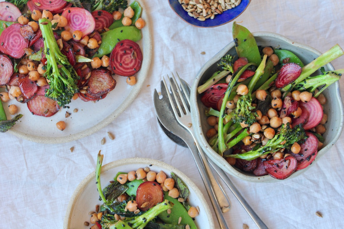 Sautéed Beetroot, Broccoli & Chickpeas