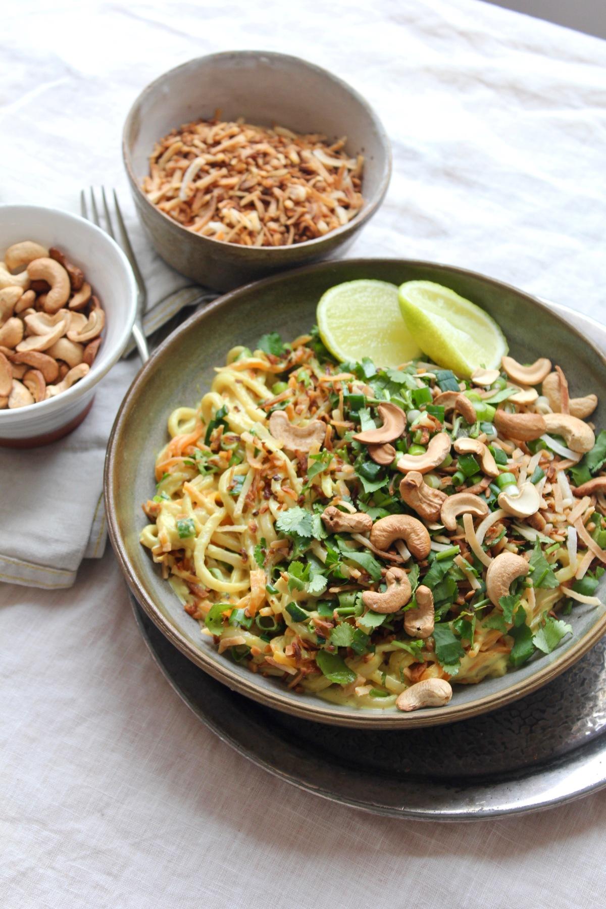 Coconut Turmeric Noodles