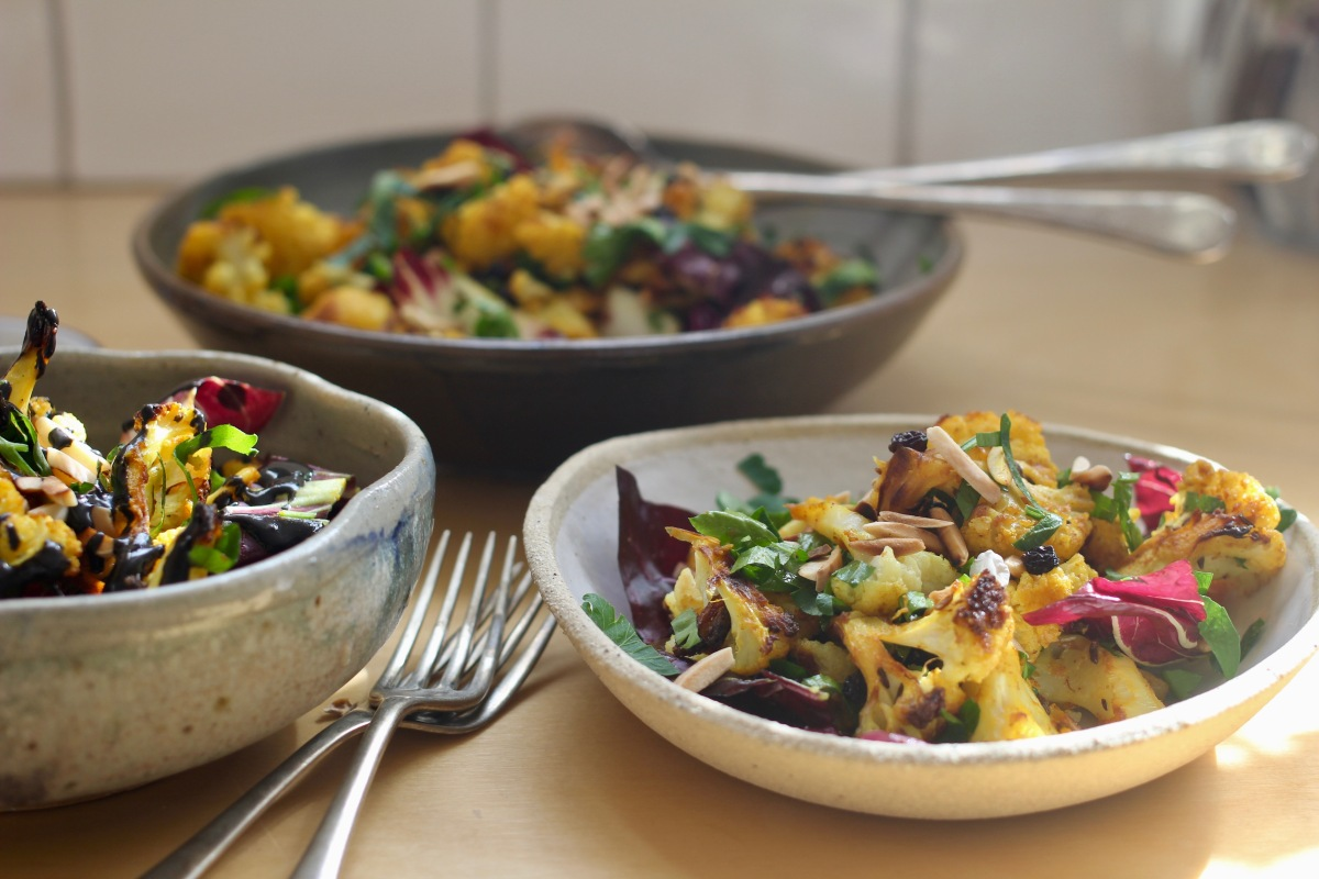 Turmeric-Roasted Cauliflower Salad