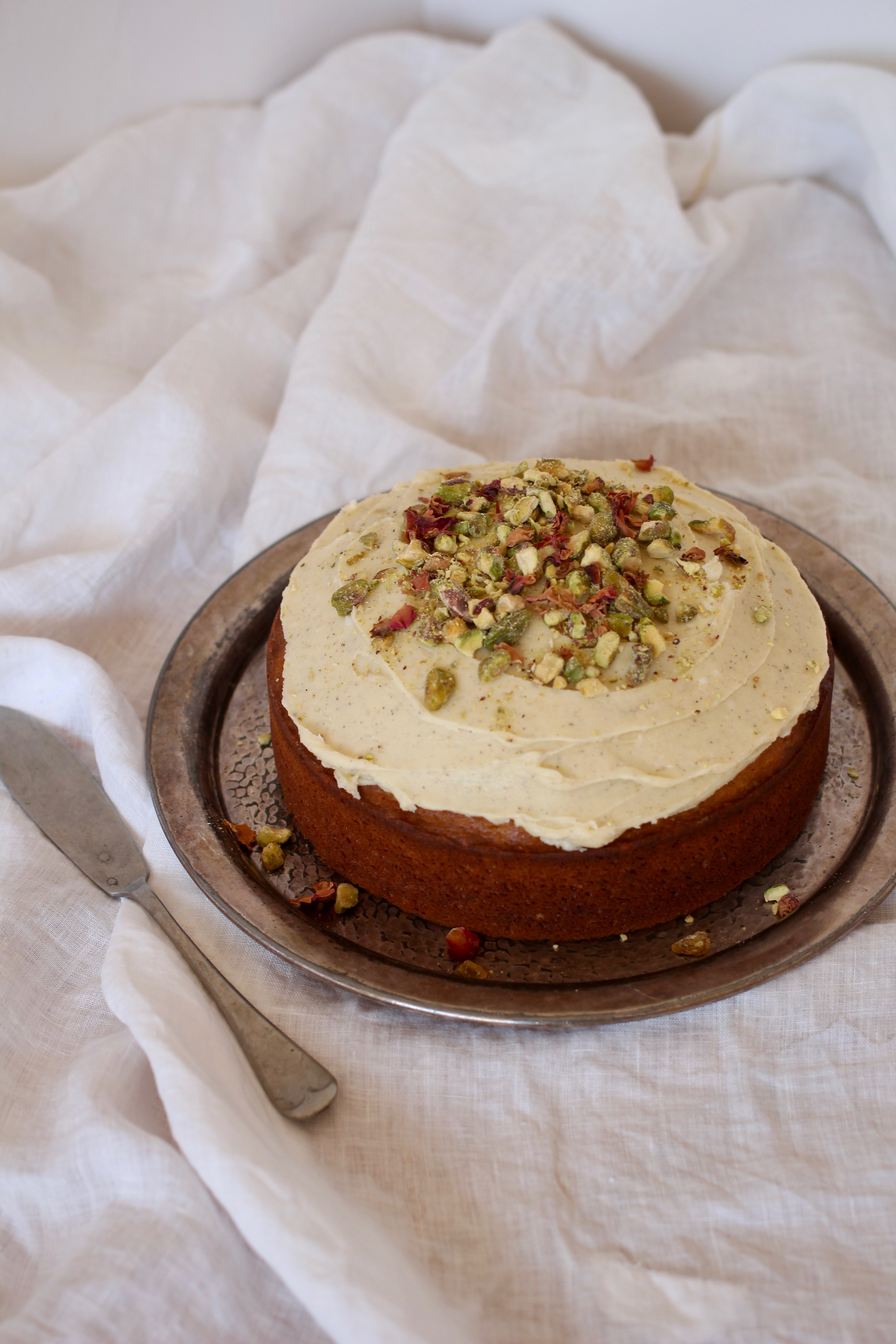 Pistachio Amp Rosewater Cake With Cardamom Frosting