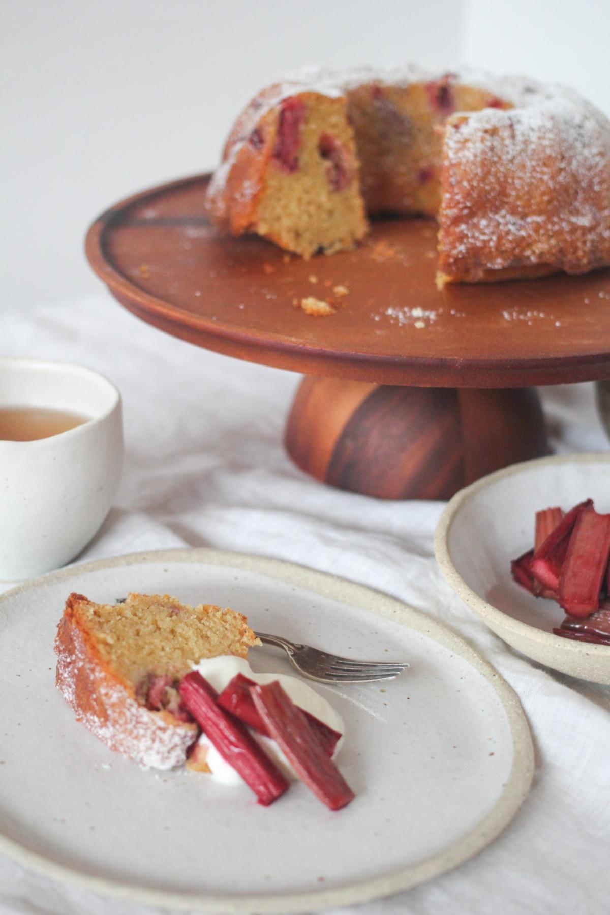 Rhubarb Pound Cake
