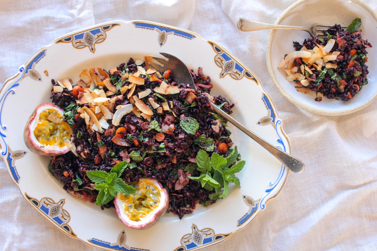 Black Rice & Passionfruit Salad